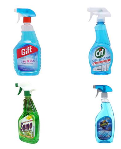 Một số loại nước lau kính các bà nội trợ thường dùng